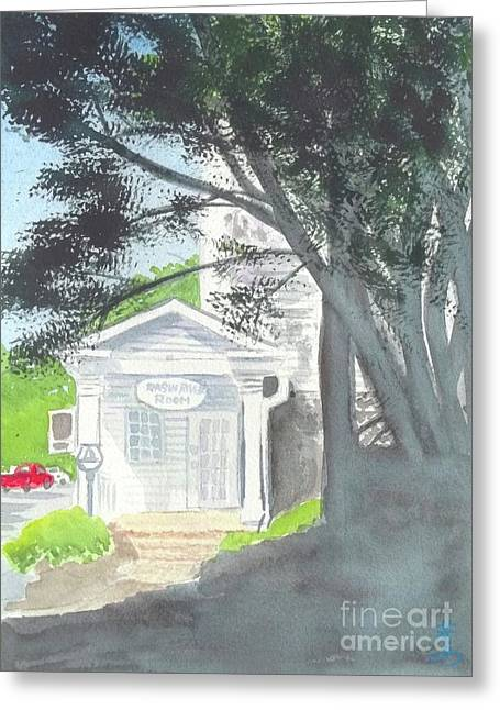 Greeting Card featuring the painting Wellers Carriage House 1 by Yoshiko Mishina
