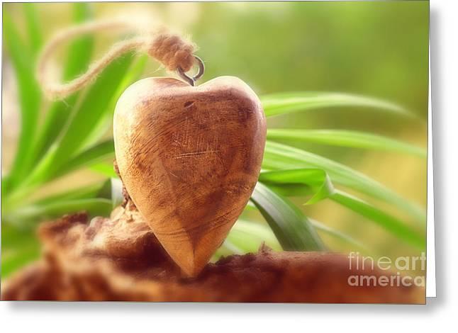 Wellnes Heart Greeting Card by Tanja Riedel