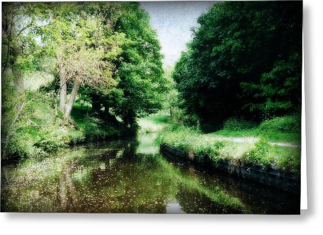 Welsh Canal Dream Greeting Card by Marilyn Wilson