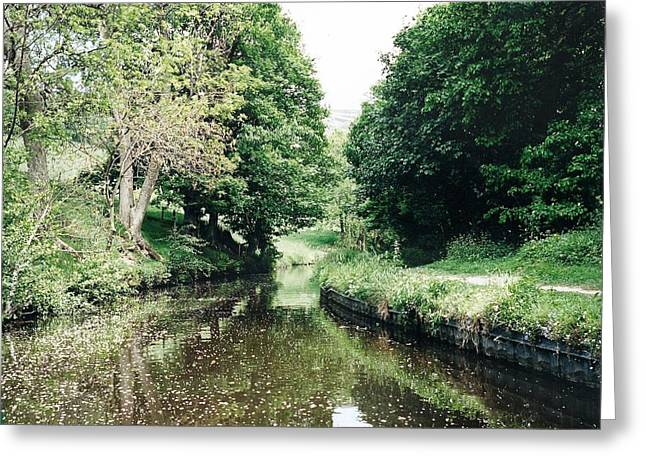 Welsh Canal Greeting Card by Marilyn Wilson