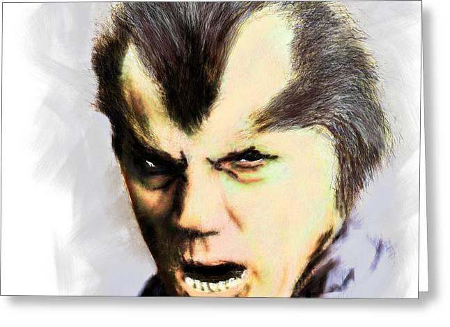 Werewolf Of London Greeting Card by Arne Hansen