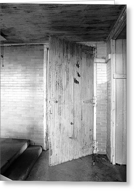 Wern Dairy Door Greeting Card by Jan W Faul
