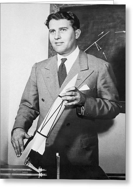 Wernher Von Braun, German Rocket Designer Greeting Card