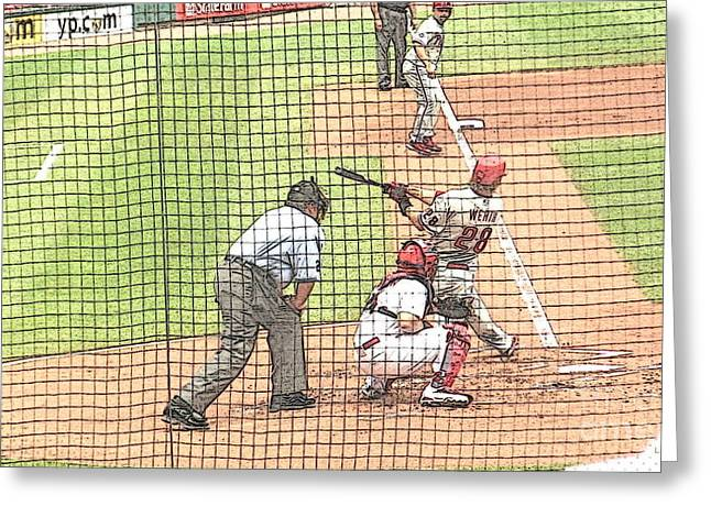 Werth Swings For Phillies Greeting Card by Lani PVG   Richmond