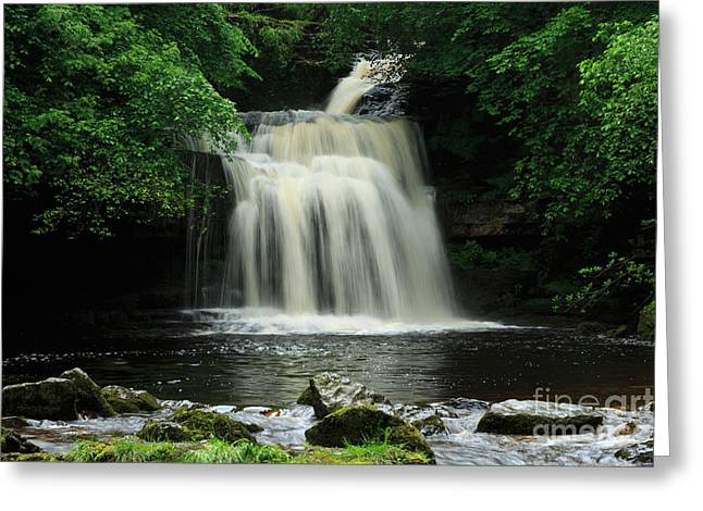 West Burton Falls In Wensleydale Greeting Card by Louise Heusinkveld