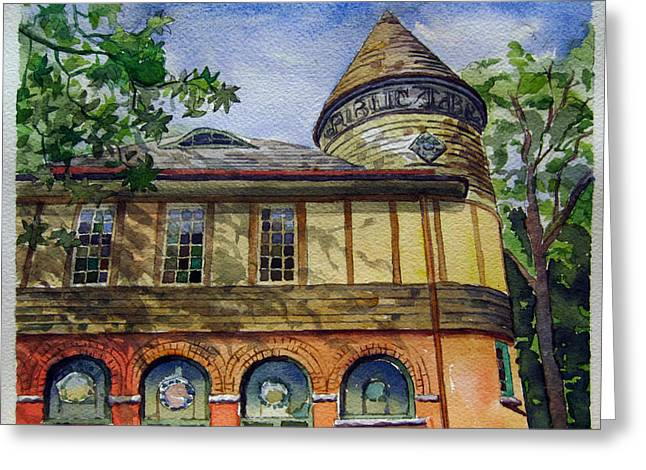 West Chester Library Greeting Card by Michael Stancato