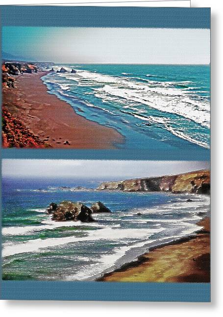 West Coast Diptych 3 Greeting Card by Steve Ohlsen