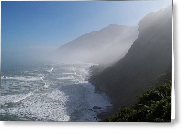 West Coast- South Island Greeting Card by Peter Mooyman