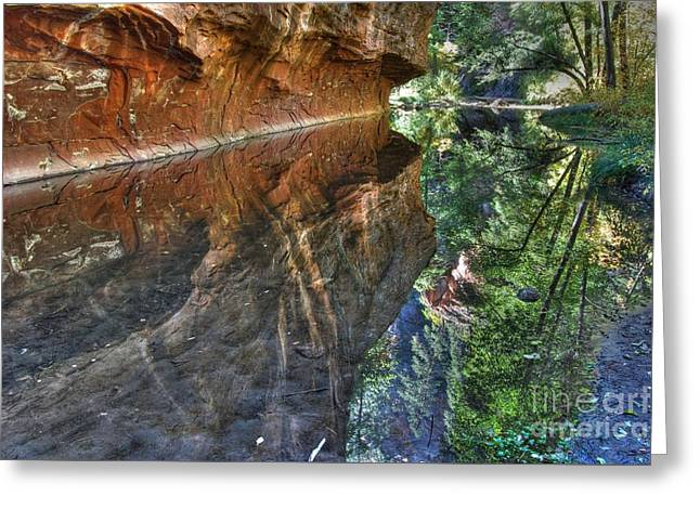 Greeting Card featuring the photograph West Fork Reflection by Tam Ryan