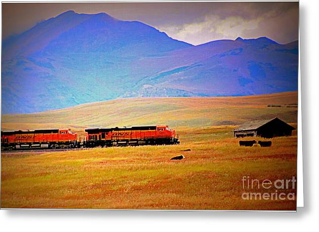 Greeting Card featuring the photograph West Is The Best by Irina Hays