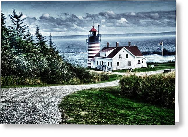 Greeting Card featuring the photograph West Quoddy Lighthouse by Kelly Reber