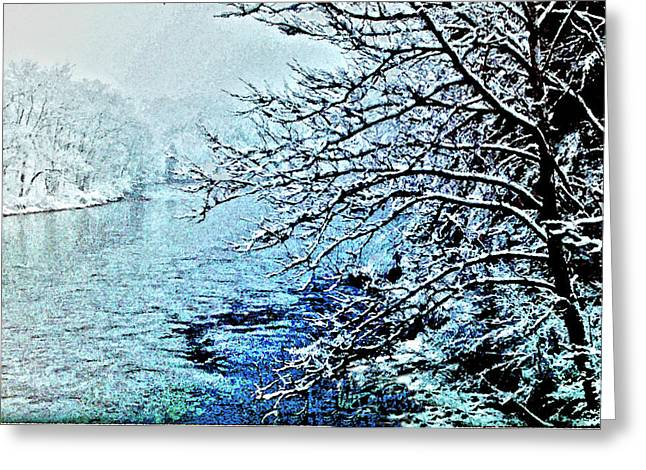 West River Snow Greeting Card
