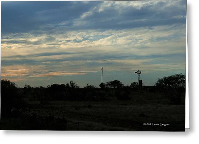 Greeting Card featuring the photograph West Texas Sunset by Travis Burgess