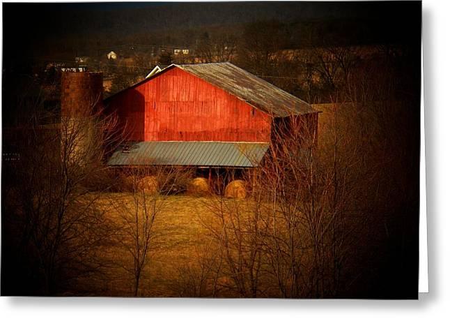 West Va Barn Greeting Card by Joyce Kimble Smith