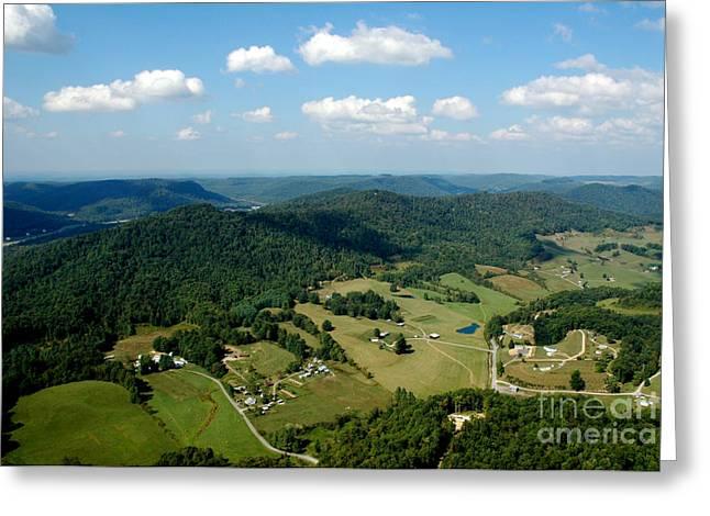 West Virginia Aerial  Greeting Card