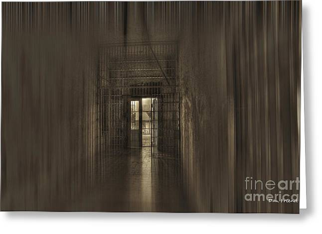 West Virginia Penitentiary Hallway Out Greeting Card by Dan Friend