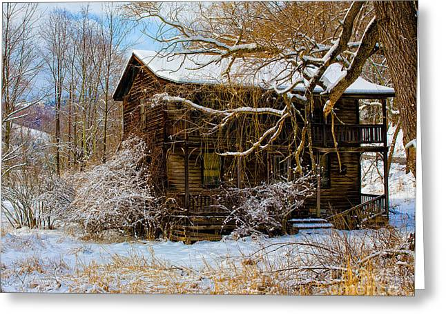 West Virginia Winter Greeting Card