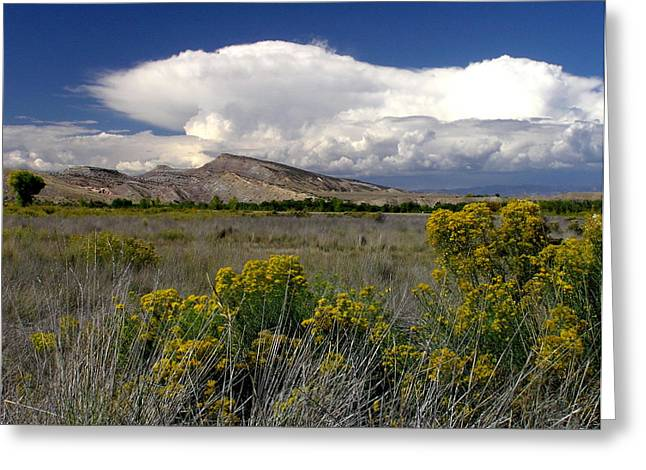 Western Colorado Cloudscape Greeting Card