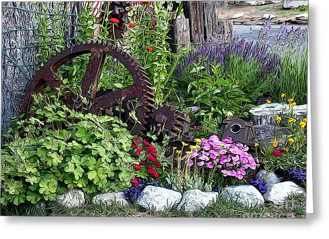 Greeting Card featuring the photograph Western Garden by Anne Raczkowski