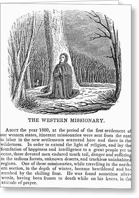 Western Missionary Greeting Card by Granger