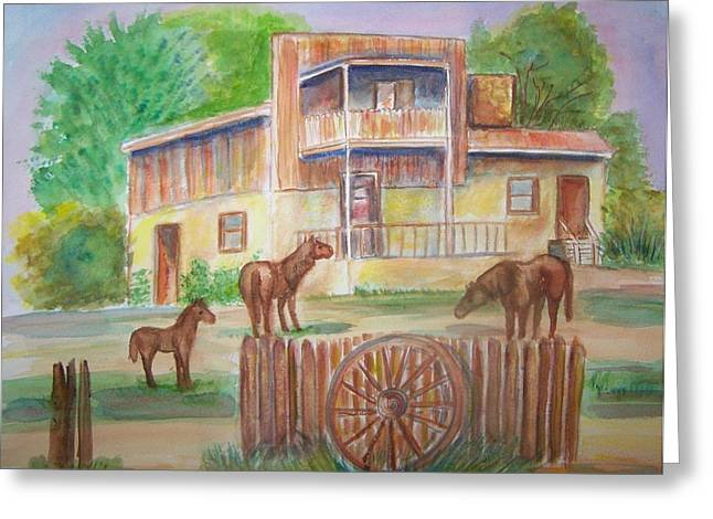Greeting Card featuring the painting Western Recluse by Belinda Lawson