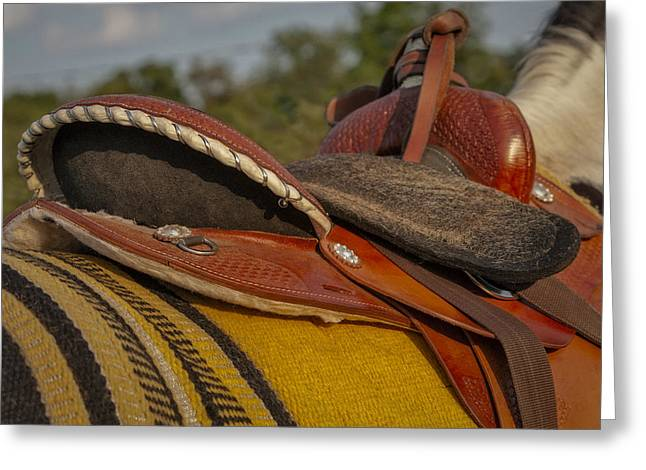 Western Saddle Greeting Card