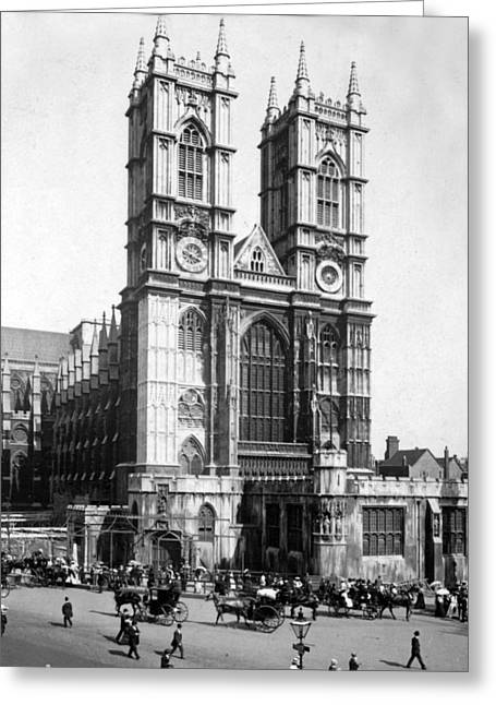 Westminster Abbey - London England - C 1909 Greeting Card by International  Images