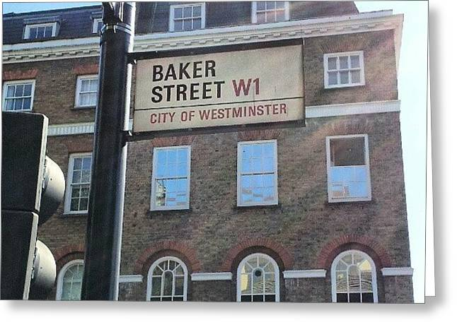 #westminster #bakerstreet #baker Greeting Card