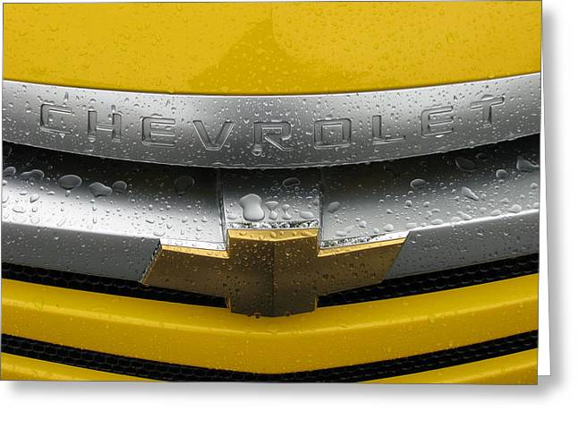 Wet Chevrolet Greeting Card by Samuel Sheats
