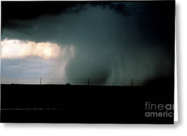 Wet Microburst Sequence, 3 Of 4 Greeting Card