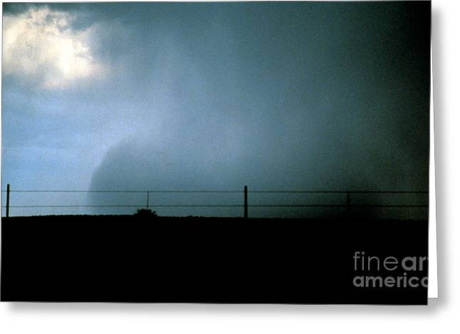 Wet Microburst Sequence, 4 Of 4 Greeting Card by Science Source