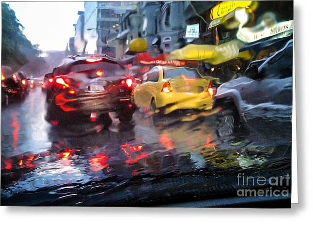 Wet Ride Home Greeting Card