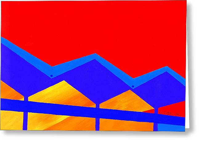 Wexler Folded Roof Two Greeting Card by Randall Weidner