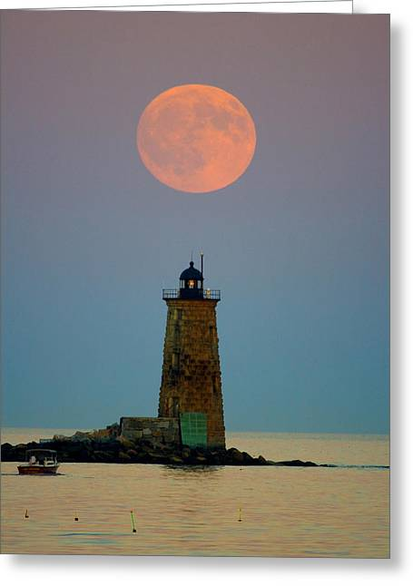 Whaleback Lighthouse Greeting Card