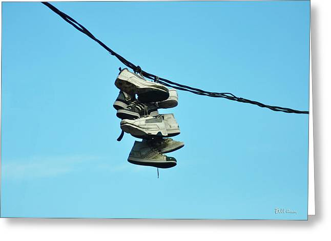 What Do You Mean You Need A New Pair Of Sneakers Greeting Card by Bill Cannon