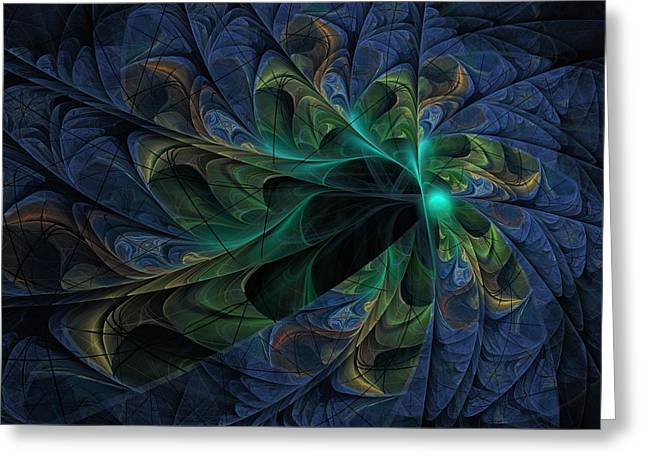 Greeting Card featuring the digital art What Is Given Here by NirvanaBlues