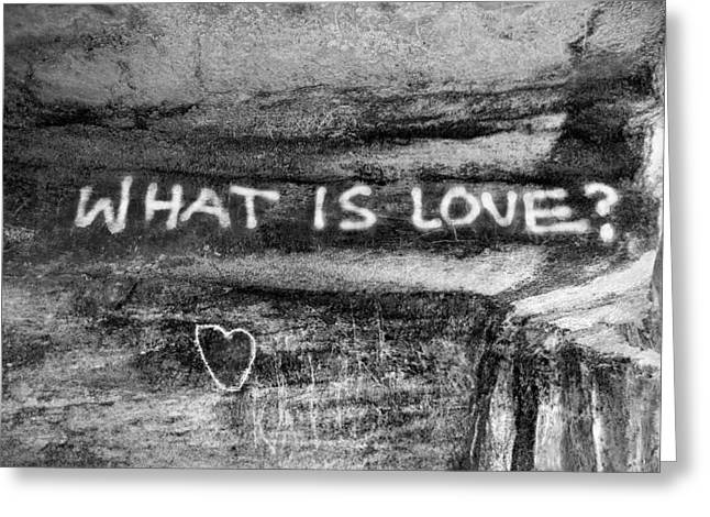 What Is Love? Greeting Card by Brett Reginald