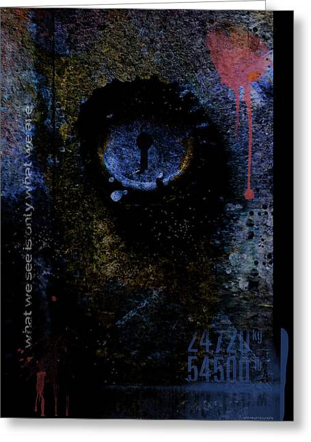 What We See Is Only What We Are Greeting Card by Ron Jones