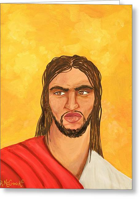 ''what Would Jesus Do'' Greeting Card by Mccormick  Arts