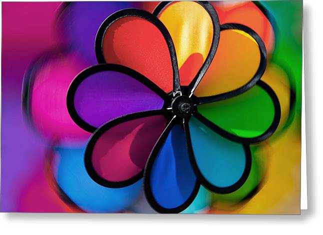 Wheel Of Colors Greeting Card