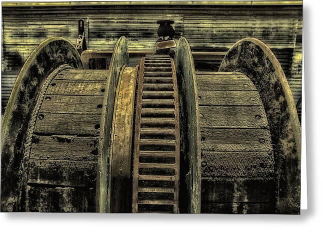 Wheel Of Industry Greeting Card by John Monteath