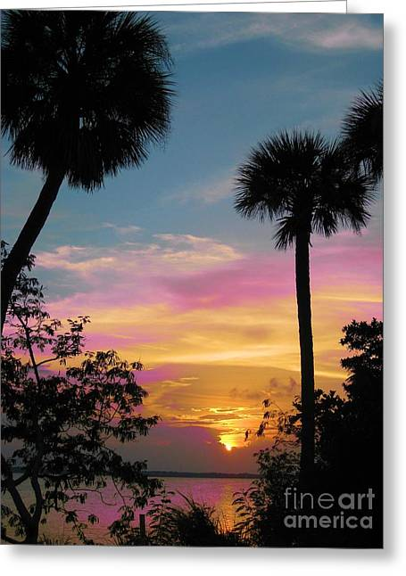 When Day Is Done Greeting Card by Judy Via-Wolff