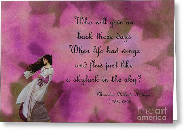 When Life Had Wings Greeting Card
