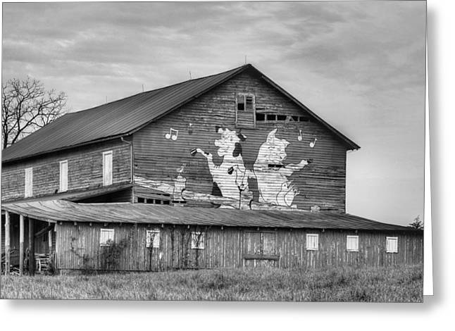 When The Farmer's Away Bw Greeting Card by JC Findley