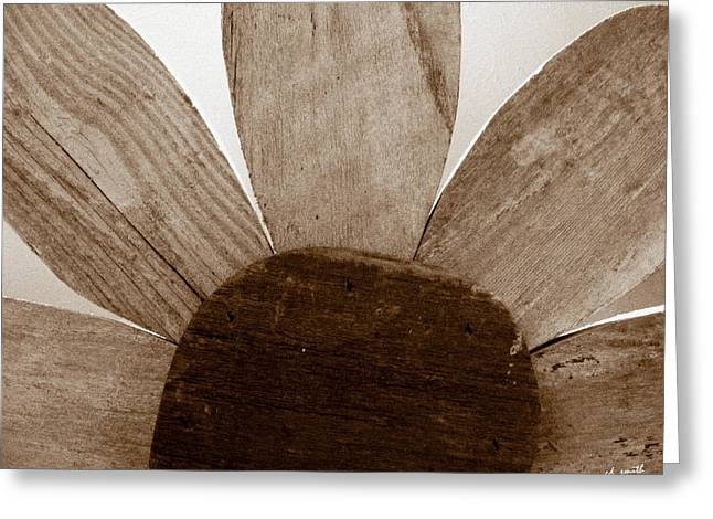 When Wood Flowers Be Brown Greeting Card by Ed Smith