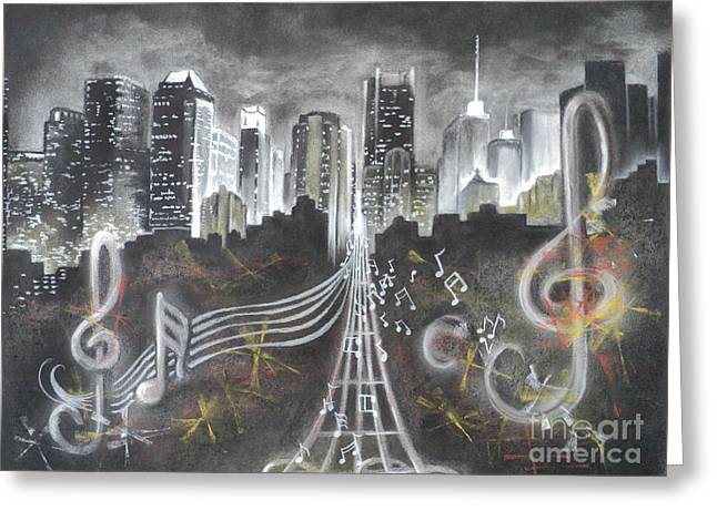 Where The Music Never Sleeps Greeting Card by Carla Carson