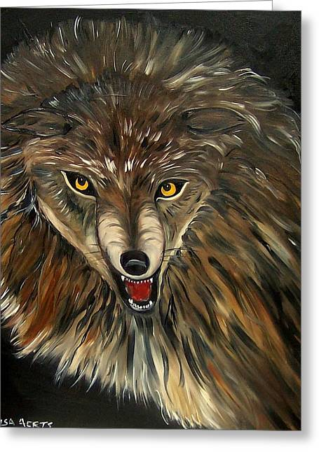 Wheres The Wolf Greeting Card by Lisa Aerts