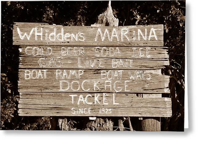 Whiddens Marina 1925 Greeting Card by David Lee Thompson