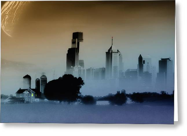 While The City Sleeps Greeting Card by Bill Cannon
