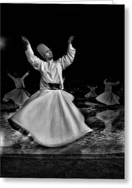 Greeting Card featuring the photograph Whirling Dervish by Okan YILMAZ